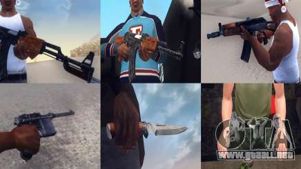 Realistic Weapons Pack para GTA San Andreas