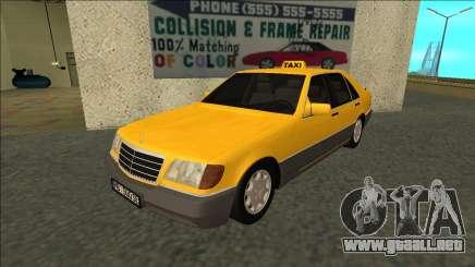 Mercedes-Benz W140 500SE Taxi 1992 para GTA San Andreas