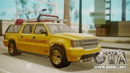 GTA 5 Declasse Granger Lifeguard para GTA San Andreas
