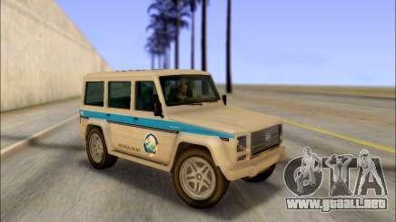 Benefactor Dubsta Jurassic World Paintjob para GTA San Andreas