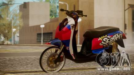 Honda Scoopy New Red and Blue para GTA San Andreas
