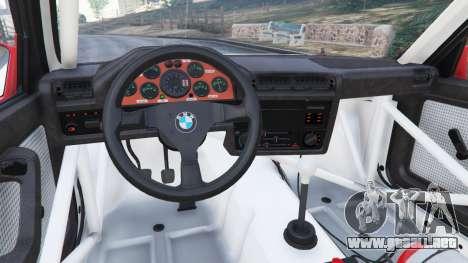 GTA 5 BMW M3 (E30) 1991 v1.2 vista lateral derecha