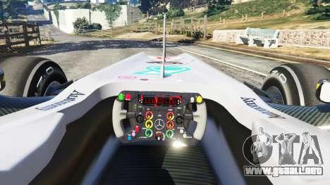 GTA 5 Mercedes-Benz MGP W01 [Michael Schumacher] v1.1 vista lateral trasera derecha