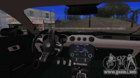 Ford Mustang Shelby GT350R 2016 Kasumigaoka para GTA San Andreas vista hacia atrás
