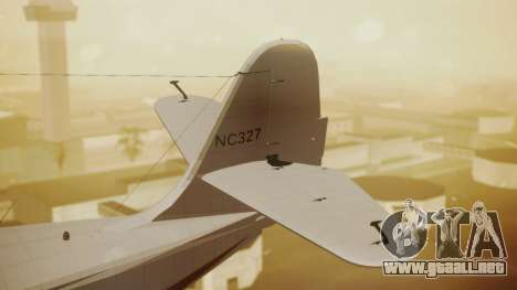 Grumman G-21 Goose NC327 Cutter Goose para GTA San Andreas vista posterior izquierda