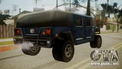Patriot III para GTA San Andreas left