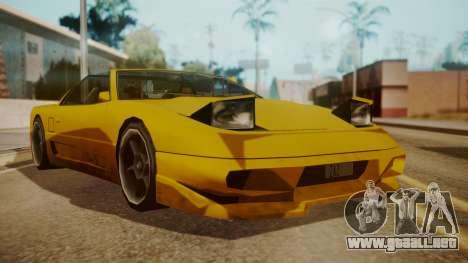 Better Super GT para GTA San Andreas vista posterior izquierda