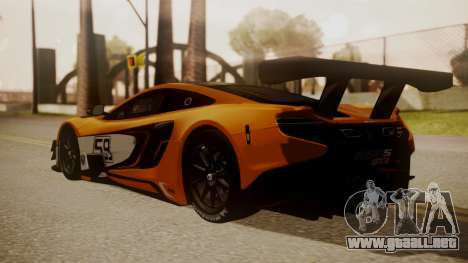 McLaren 650S GT3 2015 para GTA San Andreas left