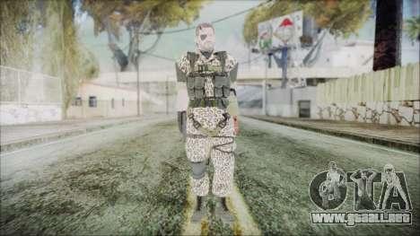 MGSV Phantom Pain Snake Normal Wetwork para GTA San Andreas segunda pantalla