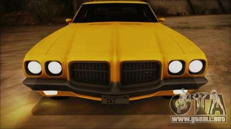 Pontiac Lemans Hardtop Coupe 1971 FIV АПП para vista lateral GTA San Andreas