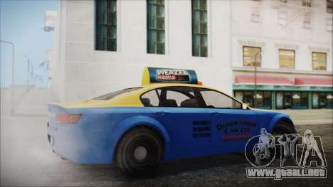 Cheval Fugitive Downtown Cab Co. Taxi para GTA San Andreas left