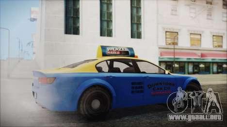 Cheval Fugitive Downtown Cab Co. Taxi para GTA San Andreas left