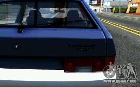 VAZ 2108 V1 para GTA San Andreas vista hacia atrás