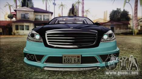 Carlsson Aigner CK65 RS v1 Headlights para visión interna GTA San Andreas