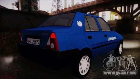 Dacia Solenza Jandarmeria para GTA San Andreas left