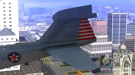 Northrop Grumman EA-6B Prowler VAQ-129 para GTA San Andreas vista posterior izquierda