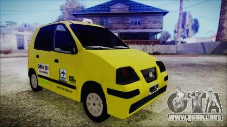 Hyundai Atos Taxi Colombiano para GTA San Andreas vista posterior izquierda
