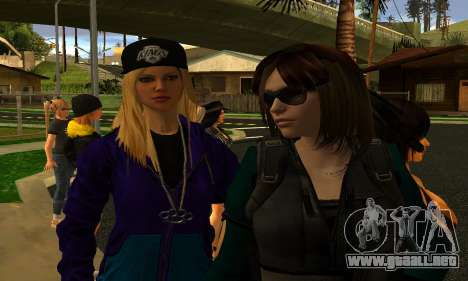 Womens Mega Pack by 7 Pack para GTA San Andreas sucesivamente de pantalla
