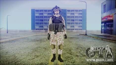 Bundeswehr Desert v2 para GTA San Andreas segunda pantalla