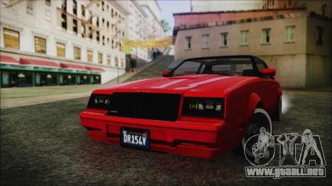 GTA 5 Willard Faction Custom without Extra IVF para GTA San Andreas