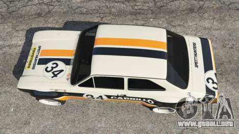 GTA 5 Ford Escort MK1 v1.1 [Carrillo] vista trasera