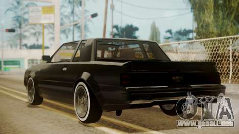 GTA 5 Faction Stock DLC LowRider para GTA San Andreas vista posterior izquierda