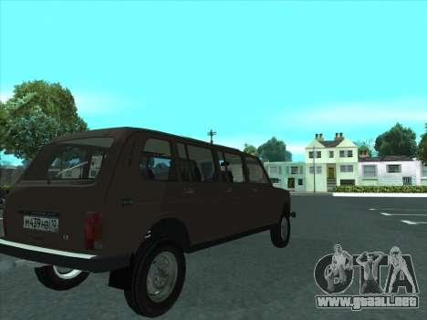 VAZ 2131 Samudera para GTA San Andreas vista hacia atrás