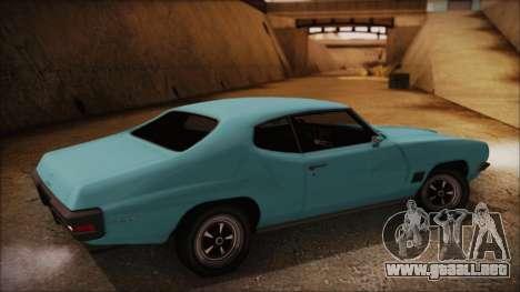 Pontiac Lemans Hardtop Coupe 1971 para GTA San Andreas left