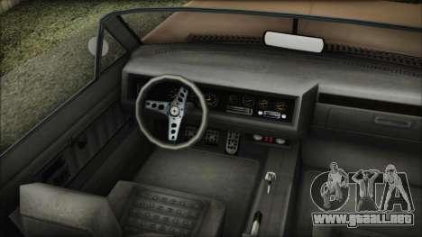 GTA 5 Albany Buccaneer Bobble Version IVF para GTA San Andreas vista posterior izquierda