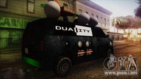 Duality Van - Furgoneta Duality para GTA San Andreas left