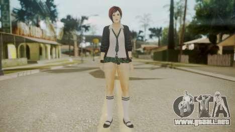 DoA School Grl para GTA San Andreas segunda pantalla