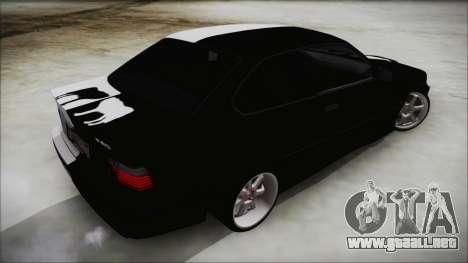 BMW M3 E36 Good and Evil para GTA San Andreas left