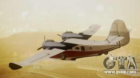 Grumman G-21 Goose NC327 Cutter Goose para GTA San Andreas left
