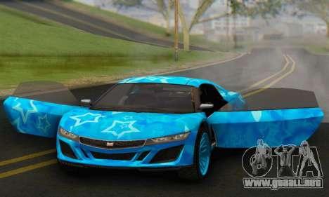 Dinka Jester (GTA V) Blue Star Edition para GTA San Andreas vista hacia atrás