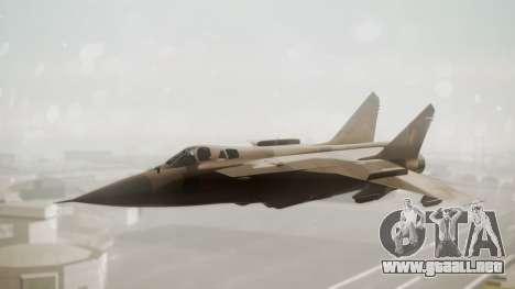 Mikoyan MiG-31 Yuktobanian Air Force para GTA San Andreas