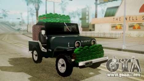 Jeep Willys Cafetero para GTA San Andreas