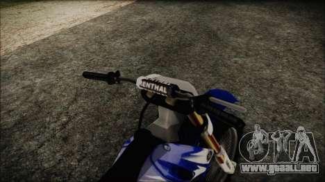 Yamaha YZ250 para la visión correcta GTA San Andreas