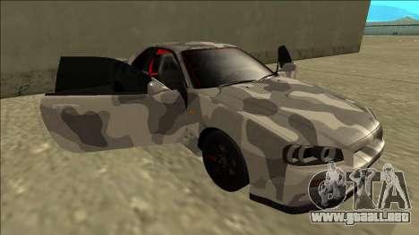 Nissan Skyline R34 Army Drift para vista inferior GTA San Andreas