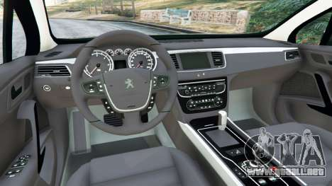 GTA 5 Peugeot 508 vista lateral trasera derecha