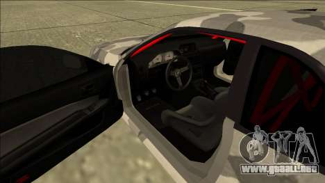 Nissan Skyline R34 Army Drift para visión interna GTA San Andreas