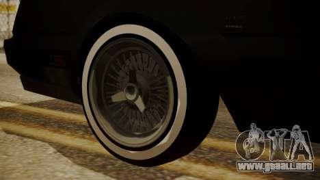 GTA 5 Faction Stock DLC LowRider para la visión correcta GTA San Andreas