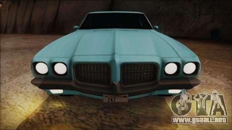 Pontiac Lemans Hardtop Coupe 1971 para GTA San Andreas vista hacia atrás