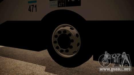 Todo Bus Agrale MT17.0LE AA para GTA San Andreas vista posterior izquierda