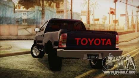Toyota Hilux 2015 v2 para GTA San Andreas left