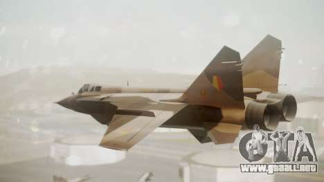 Mikoyan MiG-31 Yuktobanian Air Force para GTA San Andreas left