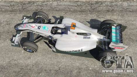 GTA 5 Mercedes-Benz MGP W01 [Michael Schumacher] v1.1 vista trasera