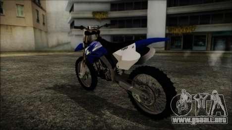Yamaha YZ250 para GTA San Andreas left