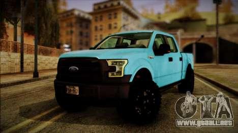 Ford F-150 4x4 2015 para GTA San Andreas
