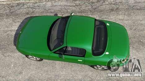 GTA 5 Mazda Miata MX-5 vista trasera