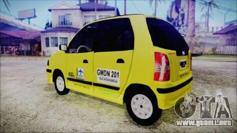 Hyundai Atos Taxi Colombiano para GTA San Andreas left